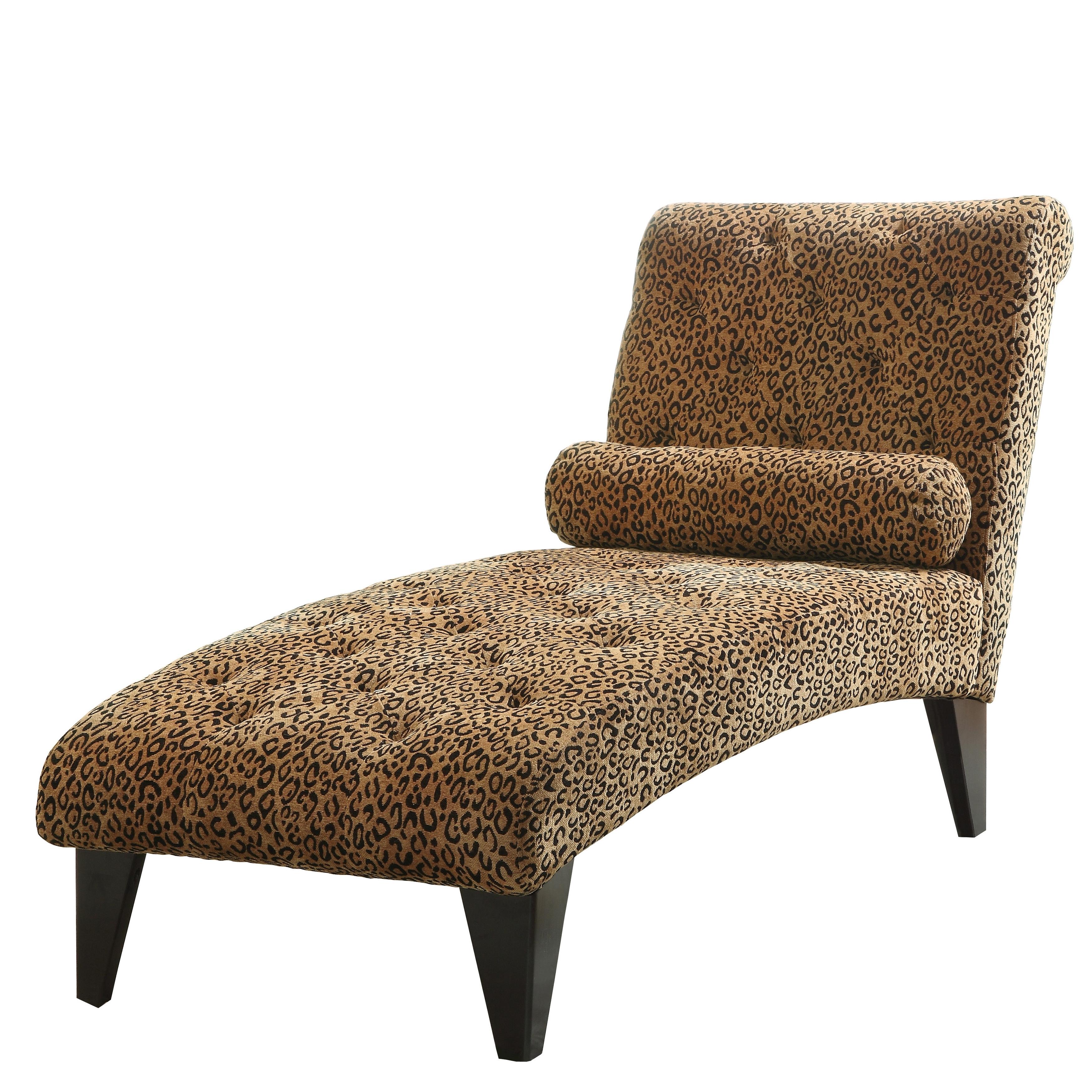 Coaster Leopard Print Chaise Lounge Chair – Walmart In 2017 Leopard Print Chaise Lounges (View 2 of 15)