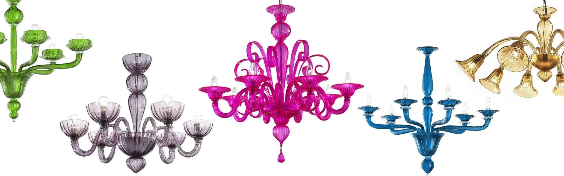 Coloured Chandeliers Throughout Most Popular ⇒ Murano Chandeliers (View 5 of 15)