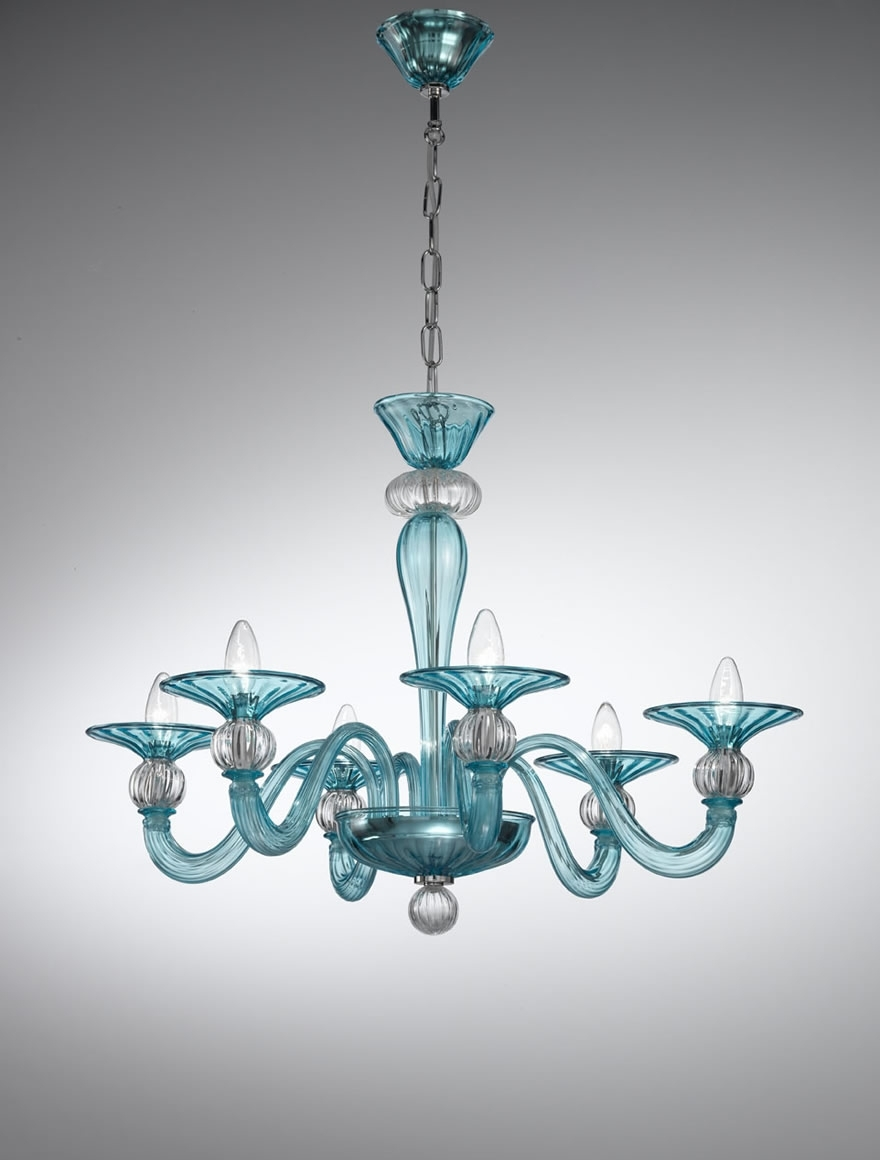 Coloured Glass Chandelier In 2018 Murano Coloured Glass Chandelier – 1154 – Vetrilamp Murano (View 6 of 15)