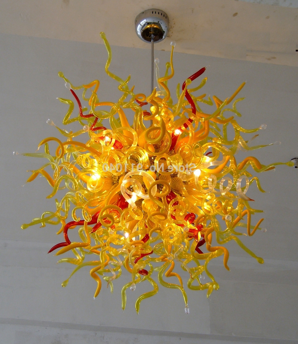 Colourful Chandeliers Inside Most Popular Buy Coloured Glass Chandeliers And Get Free Shipping On Aliexpress (View 3 of 15)