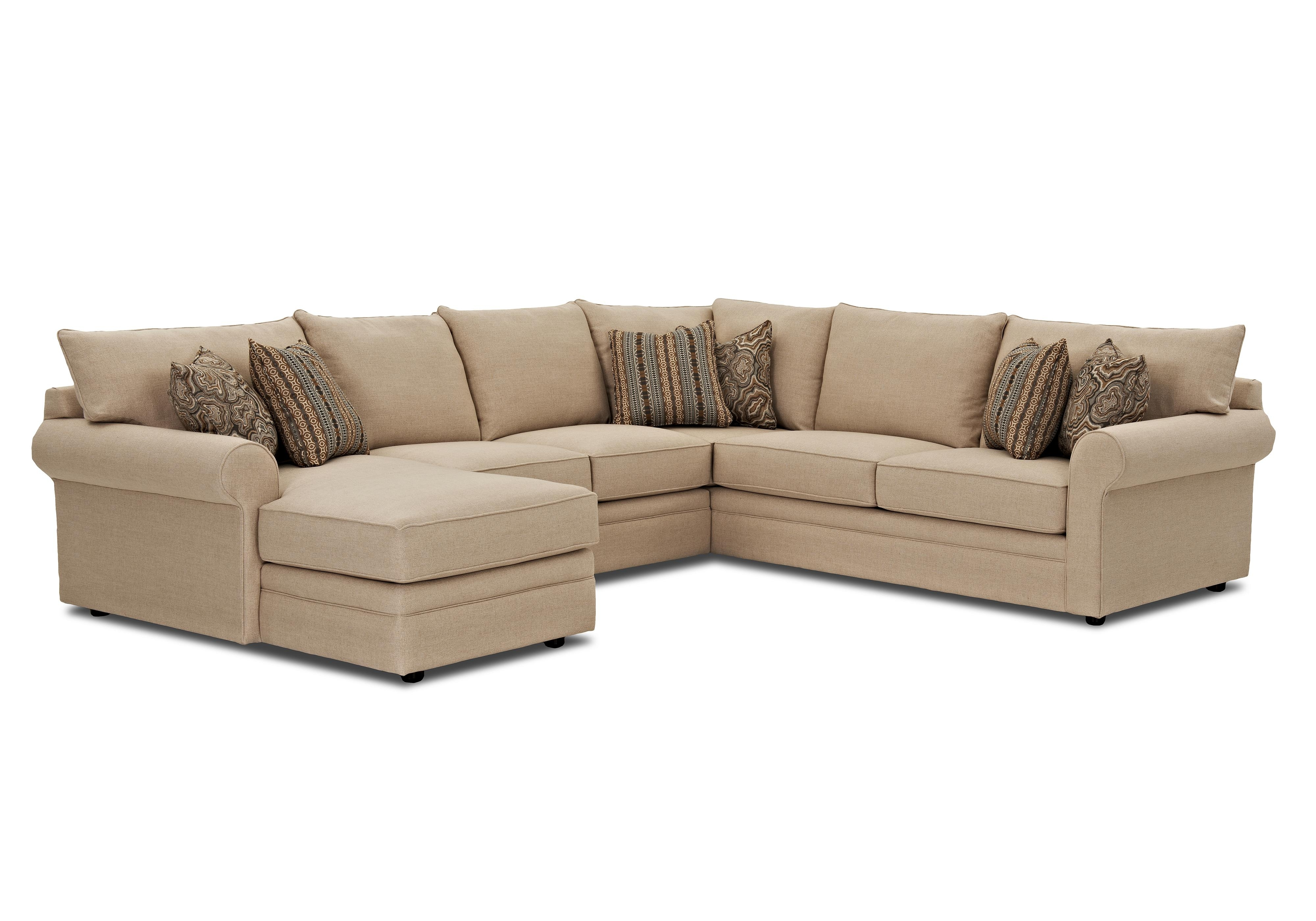 Comfy Sectional Sofas Regarding Famous Klaussner Comfy Casual Sectional Sofa With Raf Chaise (View 9 of 15)