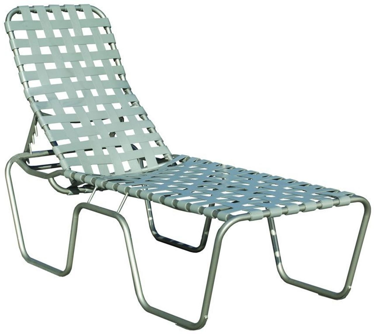 Commercial Basketweave Strap High Seat Chaise Lounge Sanibel With Regard To 2018 Chaise Lounge Strap Chairs (View 13 of 15)