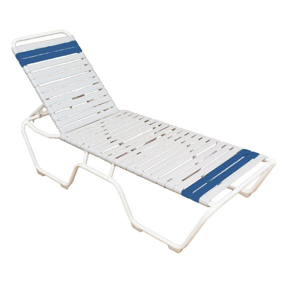 Commercial Grade Outdoor Chaise Lounge Chairs In Well Known Marco Island White Commercial Grade Aluminum Vinyl Strap Outdoor (View 2 of 15)