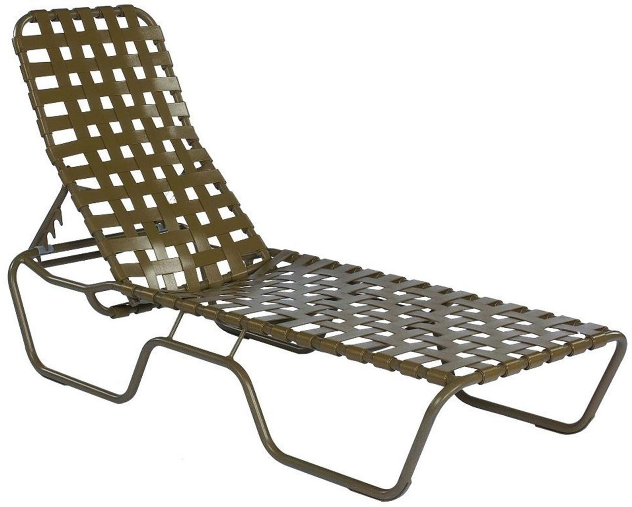 Commercial Grade Outdoor Chaise Lounge Chairs Within Most Up To Date Commercial Basketweave Strap Chaise Lounge Sanibel Stacking (View 5 of 15)