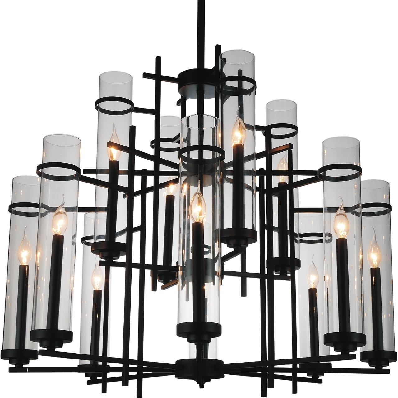 Contemporary Black Chandelier Throughout Current Brizzo Lighting Stores (View 9 of 15)