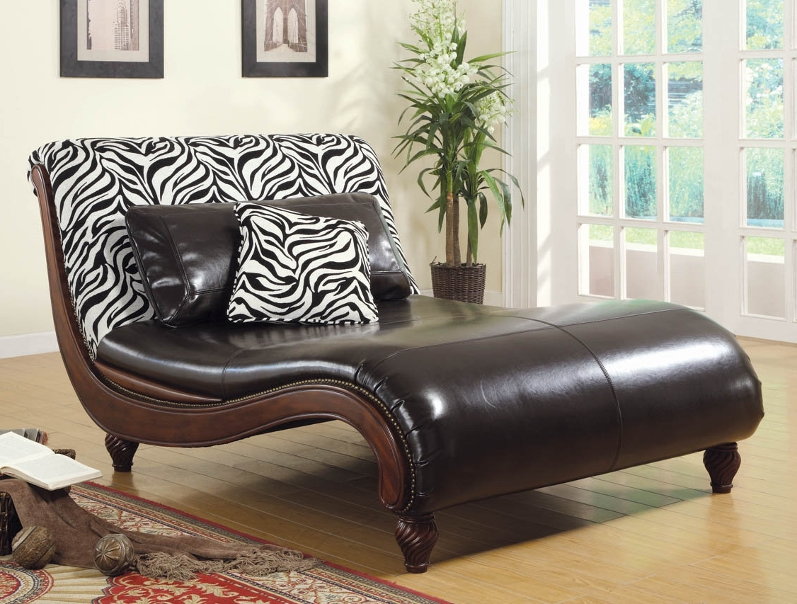 Contemporary Chaise Lounge – Large Zebra Print Contemporary Chaise Regarding Widely Used Zebra Chaise Lounges (View 2 of 15)