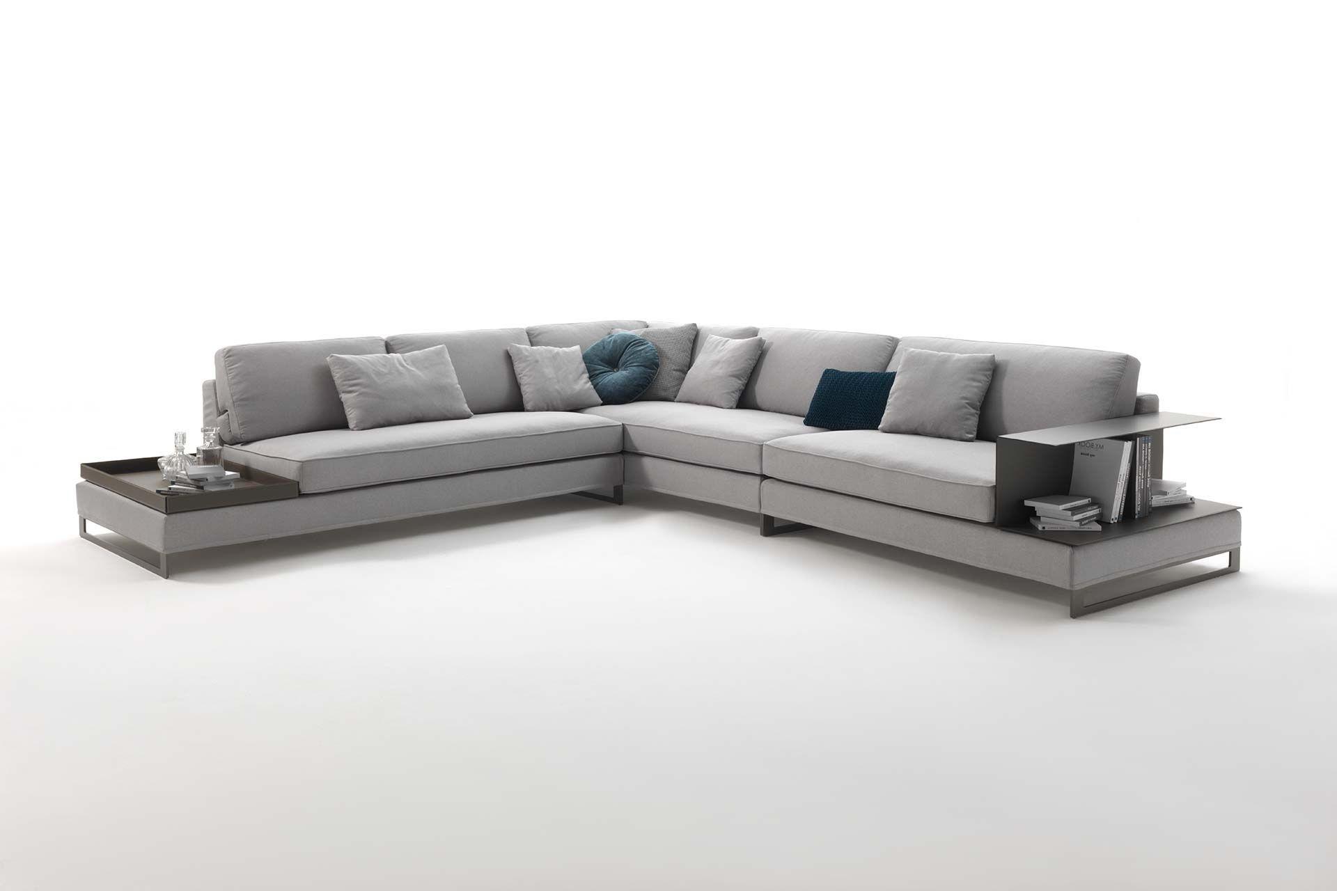 Contemporary Fabric Sofas Regarding Famous Modular Sofa / Contemporary / Fabric / Leather – Davis Case (View 12 of 15)