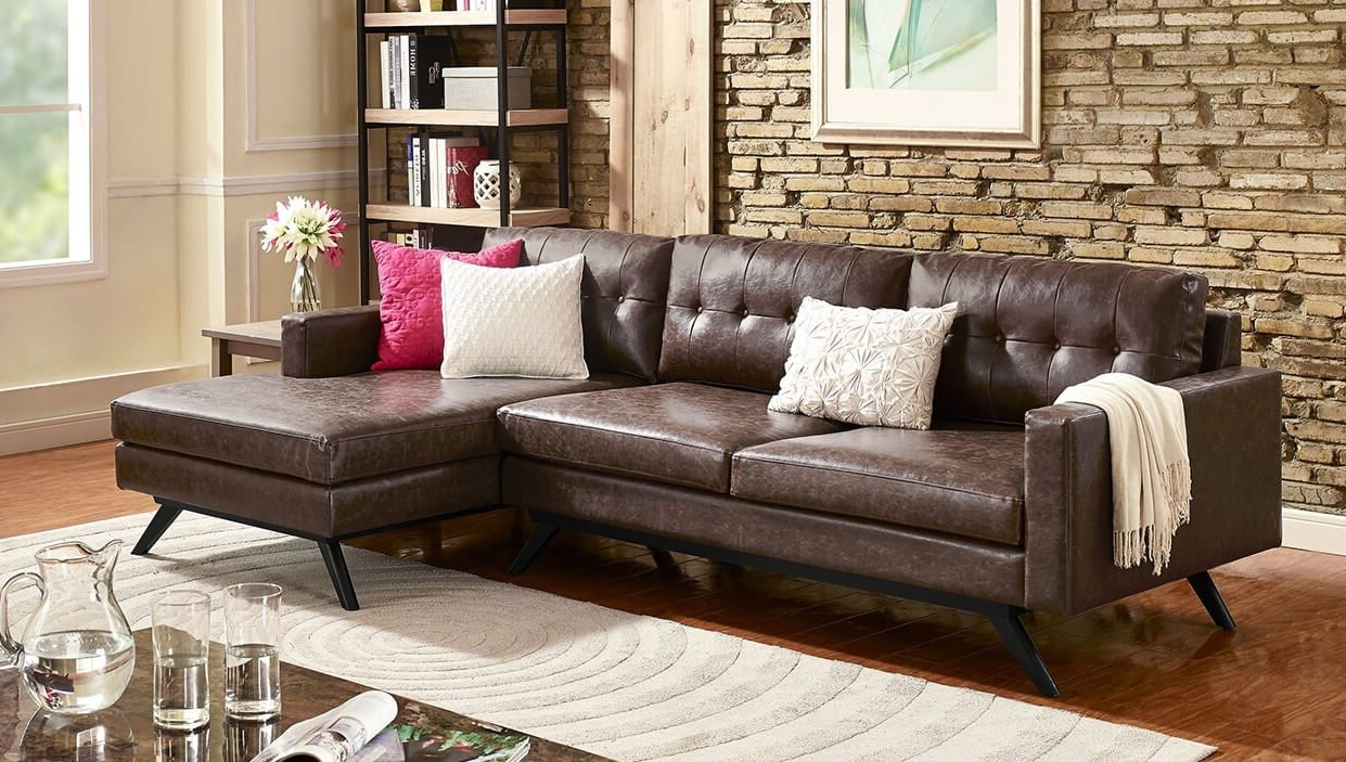 Contemporary Leather Sectional With Chaise Loveseat Sectional Intended For Newest Modern Sectional Sofas For Small Spaces (View 2 of 15)