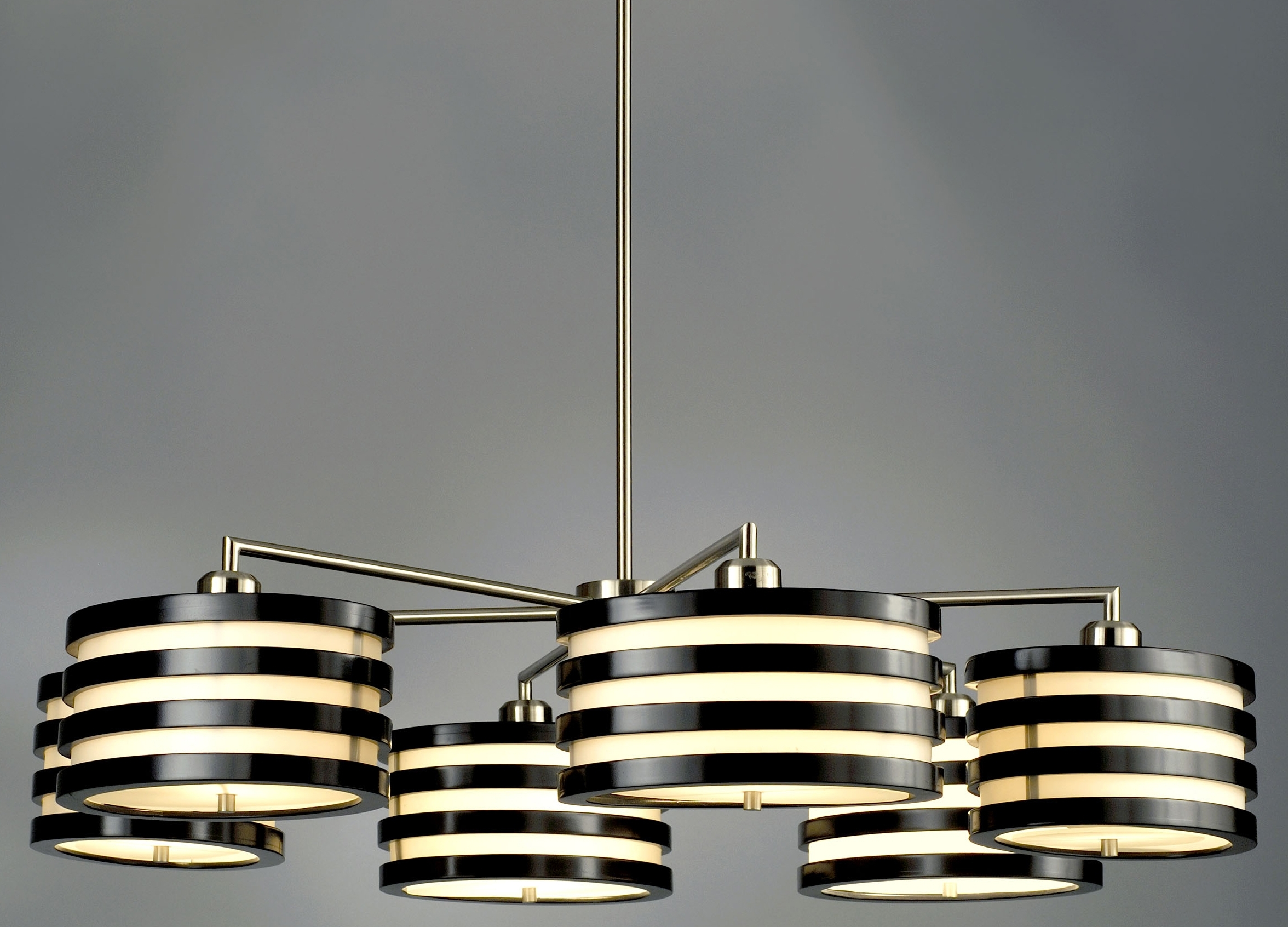 Contemporary Modern Chandelier Inside Most Recently Released Home Decor + Home Lighting Blog » Blog Archive » Nova Lighting Kobe (View 7 of 15)