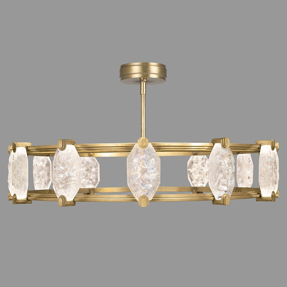 Contemporary Modern Chandelier With Regard To Famous Fine Art Lamps 872940 2St Allison Paladino Modern Gold Leaf Led (View 7 of 15)