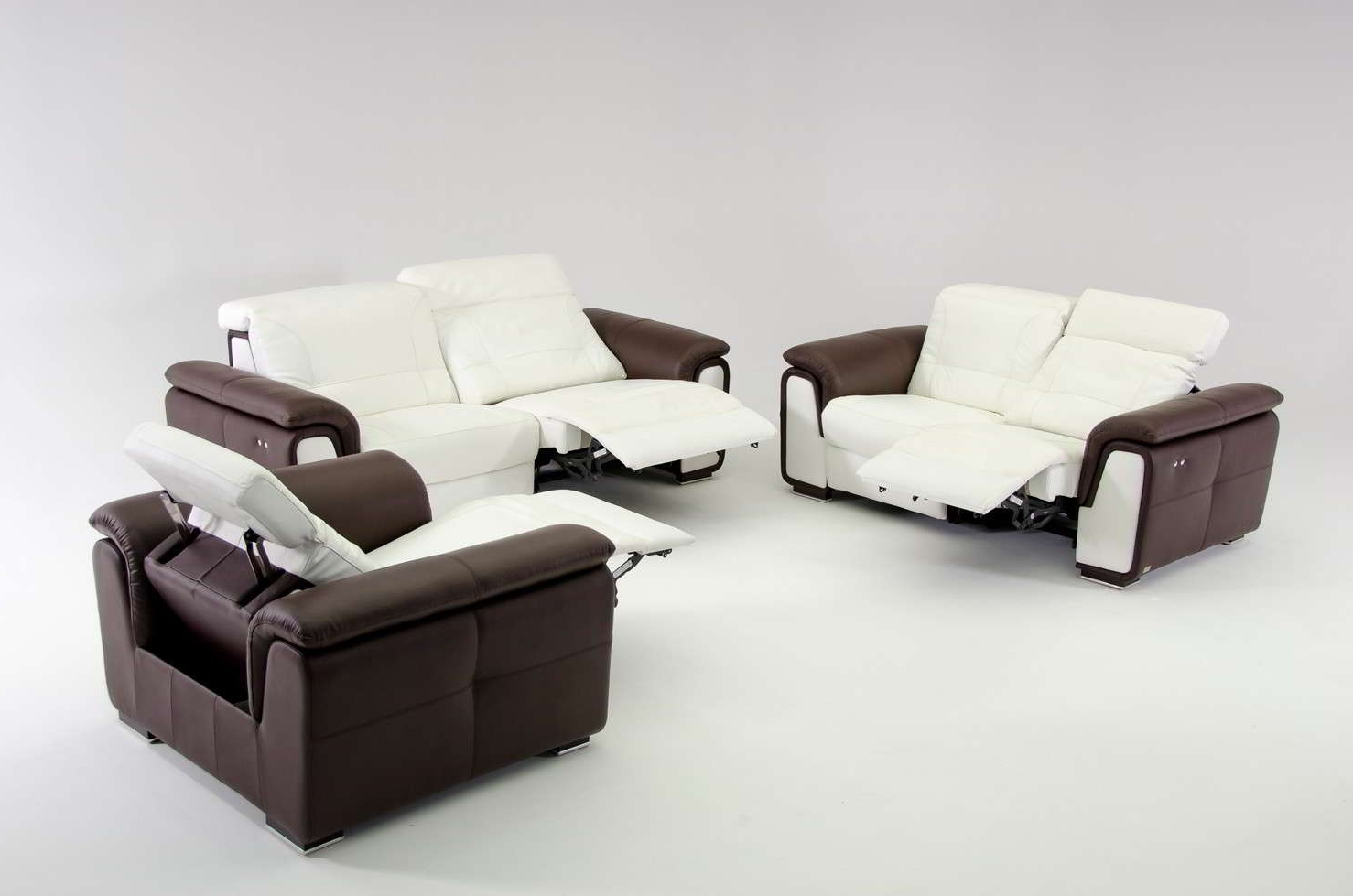 Contemporary Reclining Couch Leather — Fabrizio Design : Very Within Most Recently Released Modern Reclining Leather Sofas (View 8 of 15)