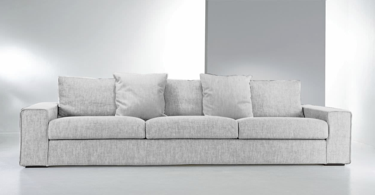 Contemporary Sofa / Fabric / 3 Seater / With Washable Removable Pertaining To Popular Sofas With Washable Covers (View 5 of 15)