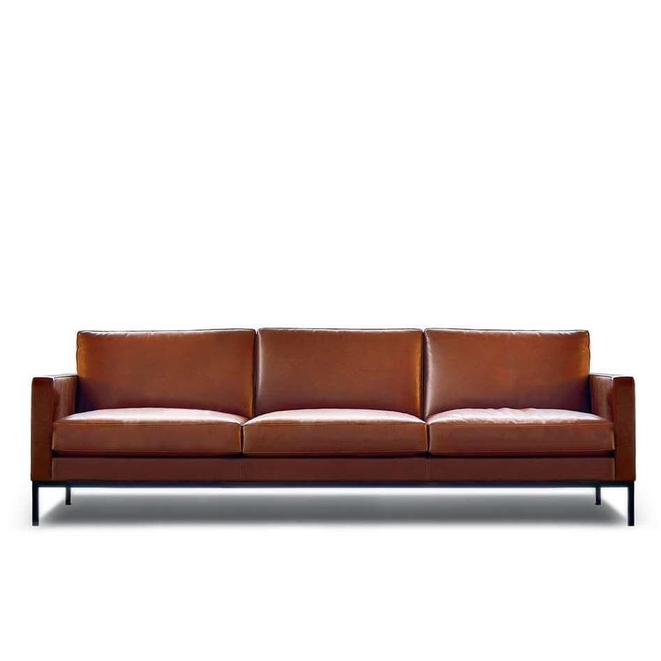Contemporary Sofa / Fabric / Leather /florence Knoll – Relax With Most Up To Date Florence Knoll Wood Legs Sofas (View 12 of 15)