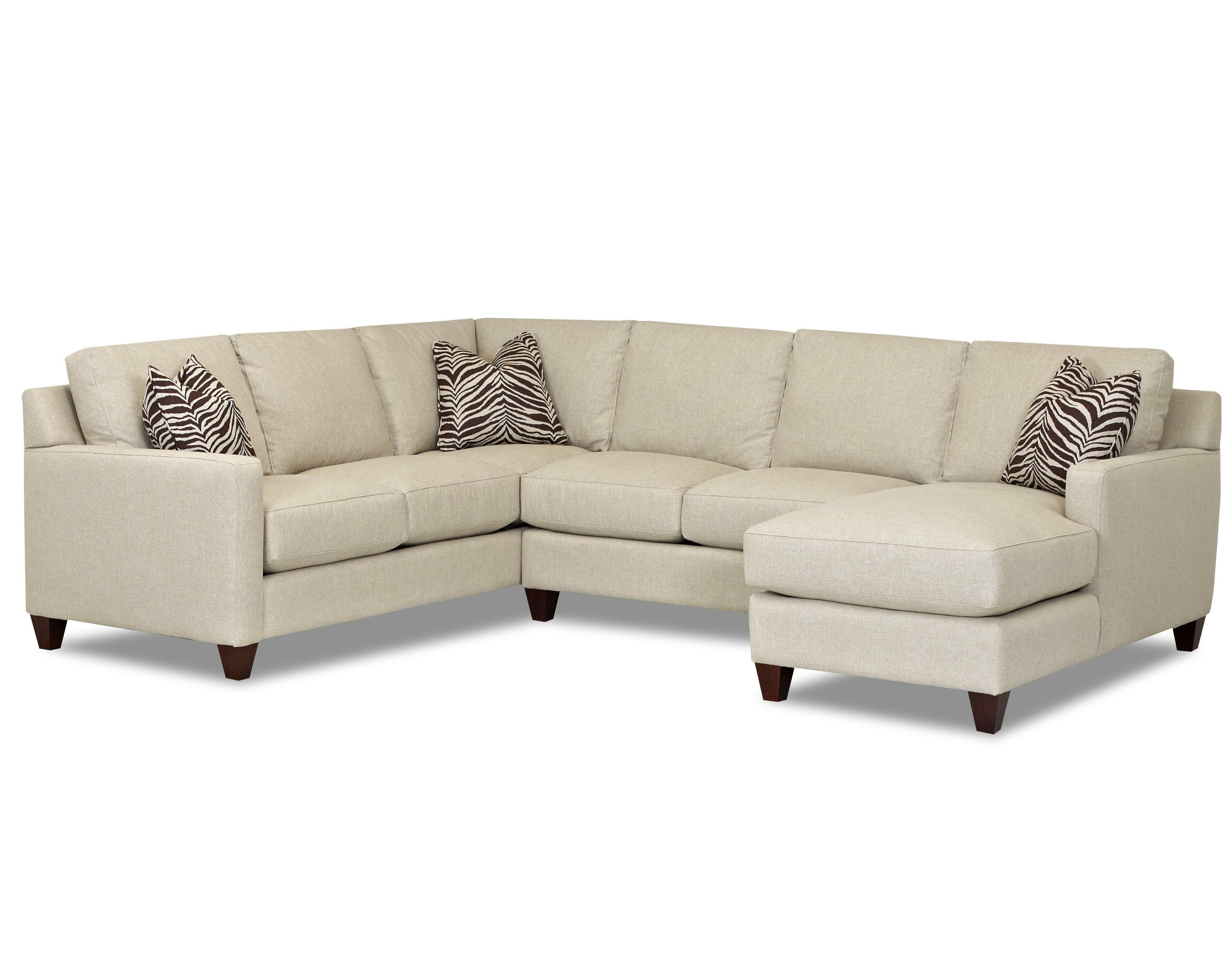 Contemporary Stationary Sectional With Track Arms, Left Side For Well Liked Left Facing Chaise Sectionals (View 13 of 15)