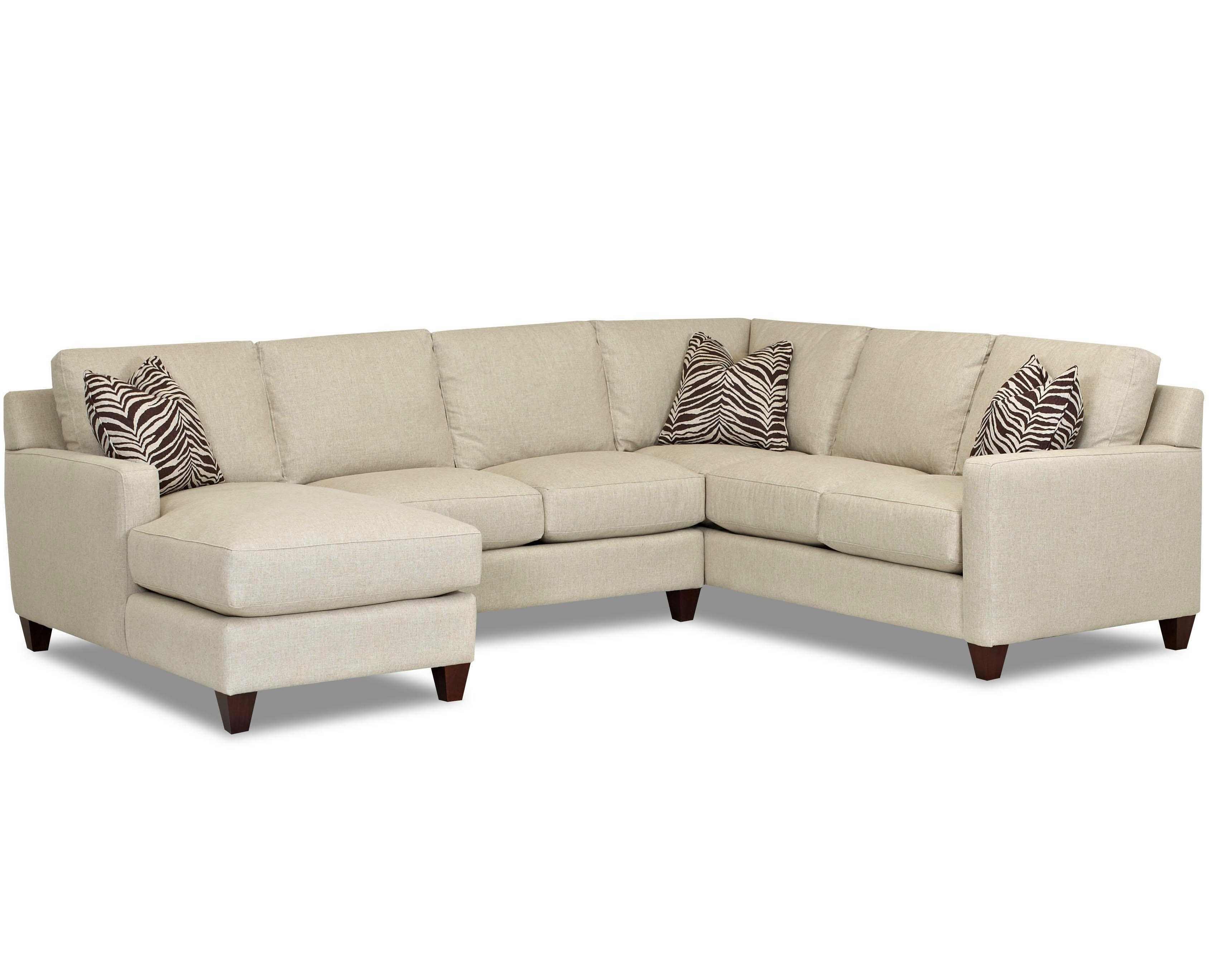 Contemporary Stationary Sectional With Track Arms, Right Side For Famous Right Arm Chaises (View 11 of 15)
