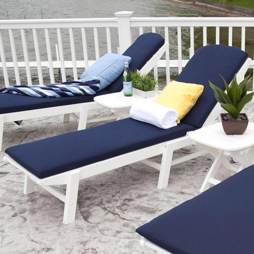 Convertible Chair : Outdoor Chair Cushions Double Chaise Lounge In Well Known Double Chaise Lounge Cushion (View 14 of 15)