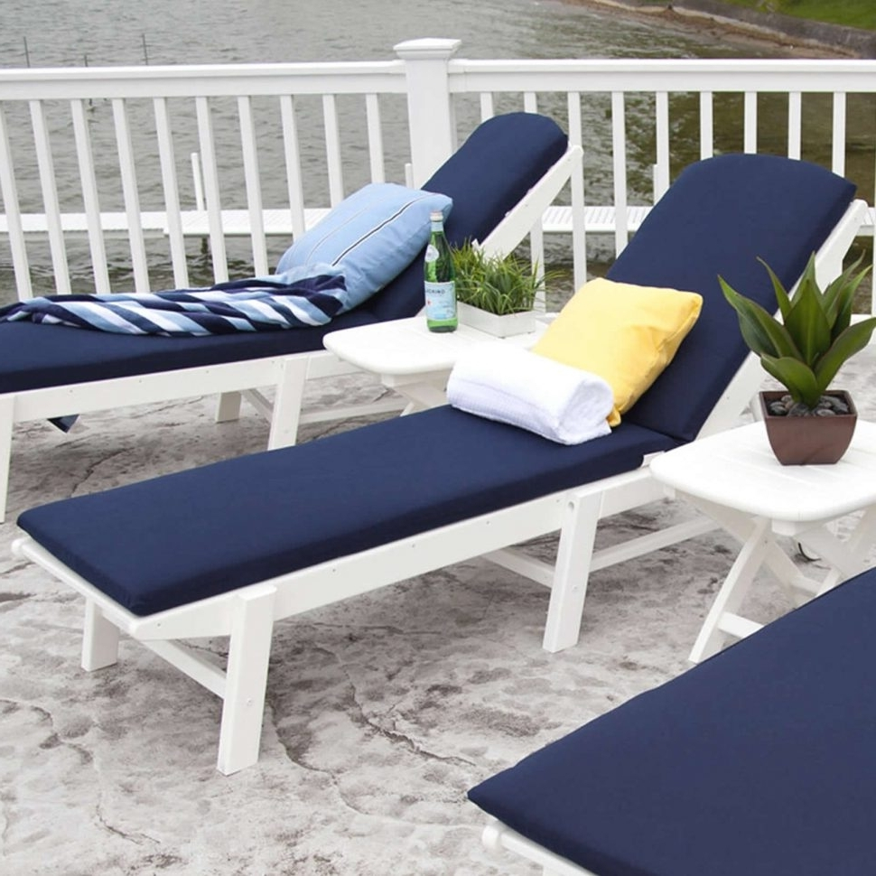 Convertible Chair : Outdoor Chair Cushions Double Chaise Lounge Pertaining To Well Liked Blue Outdoor Chaise Lounge Chairs (View 3 of 15)
