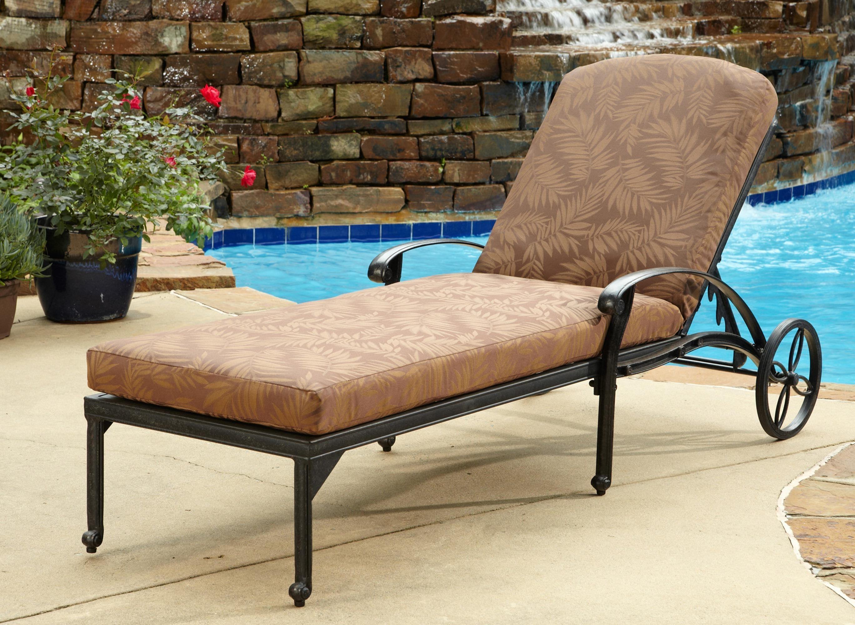 Convertible Chair : Outdoor Chaise Cushions Rattan Furniture Inside Favorite Cheap Outdoor Chaise Lounges (View 13 of 15)