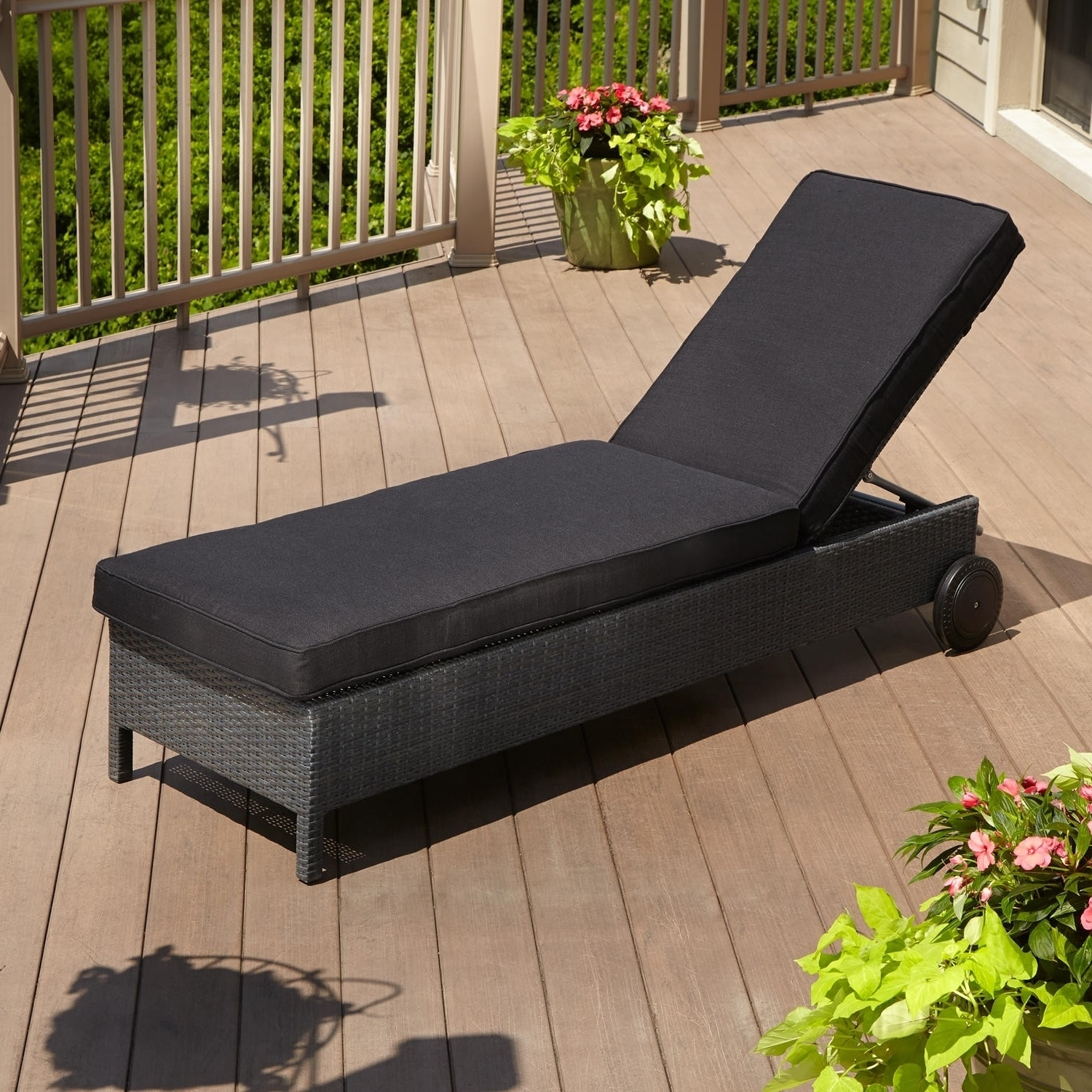 Convertible Chair : Outdoor Garden Chair Cushions Lounge Seat Intended For 2018 Inexpensive Outdoor Chaise Lounge Chairs (View 3 of 15)