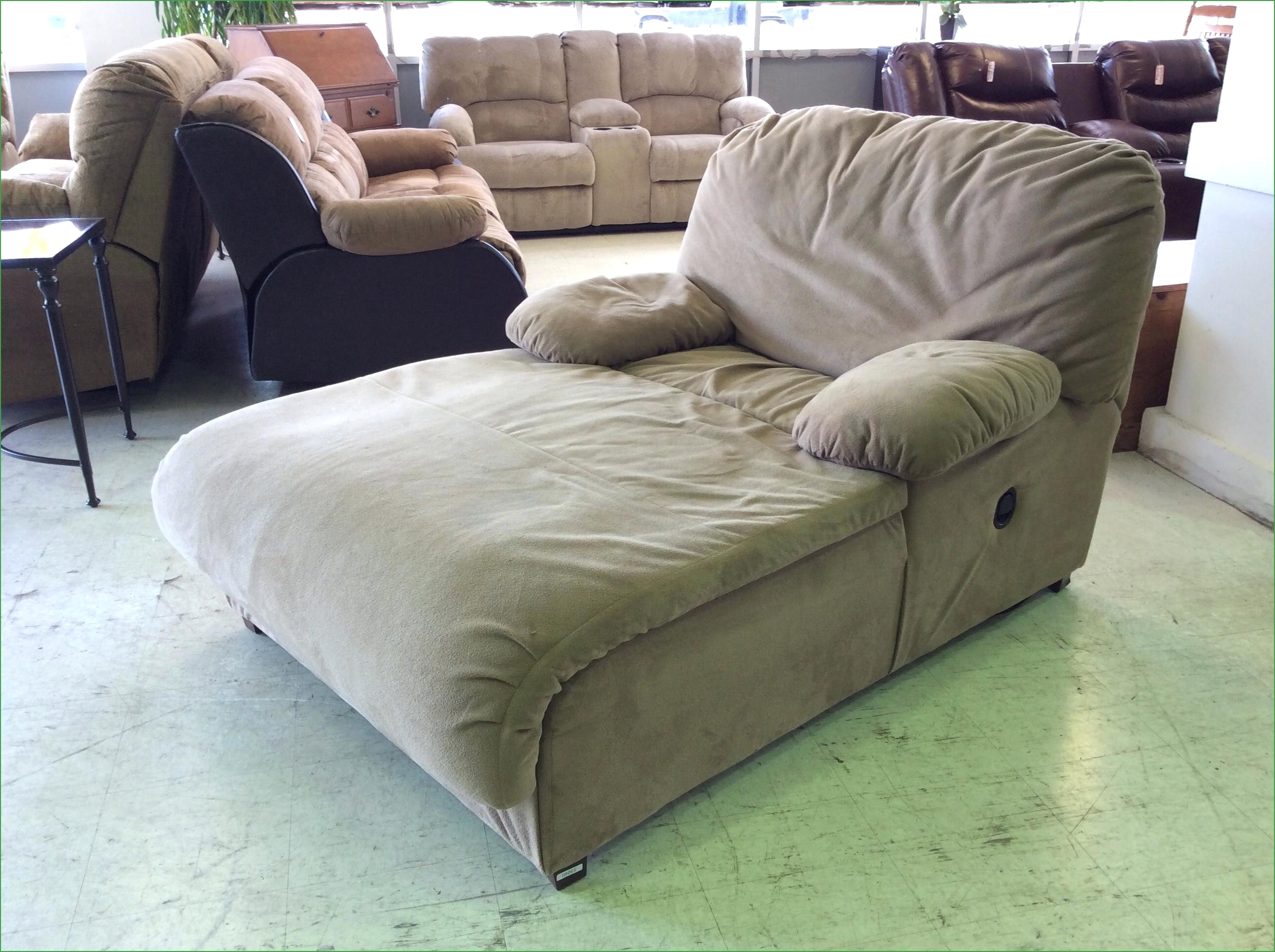 Convertible Chair : Oversized Chair And Ottoman Indoor Chaise For Most Popular Indoor Double Chaises (View 12 of 15)