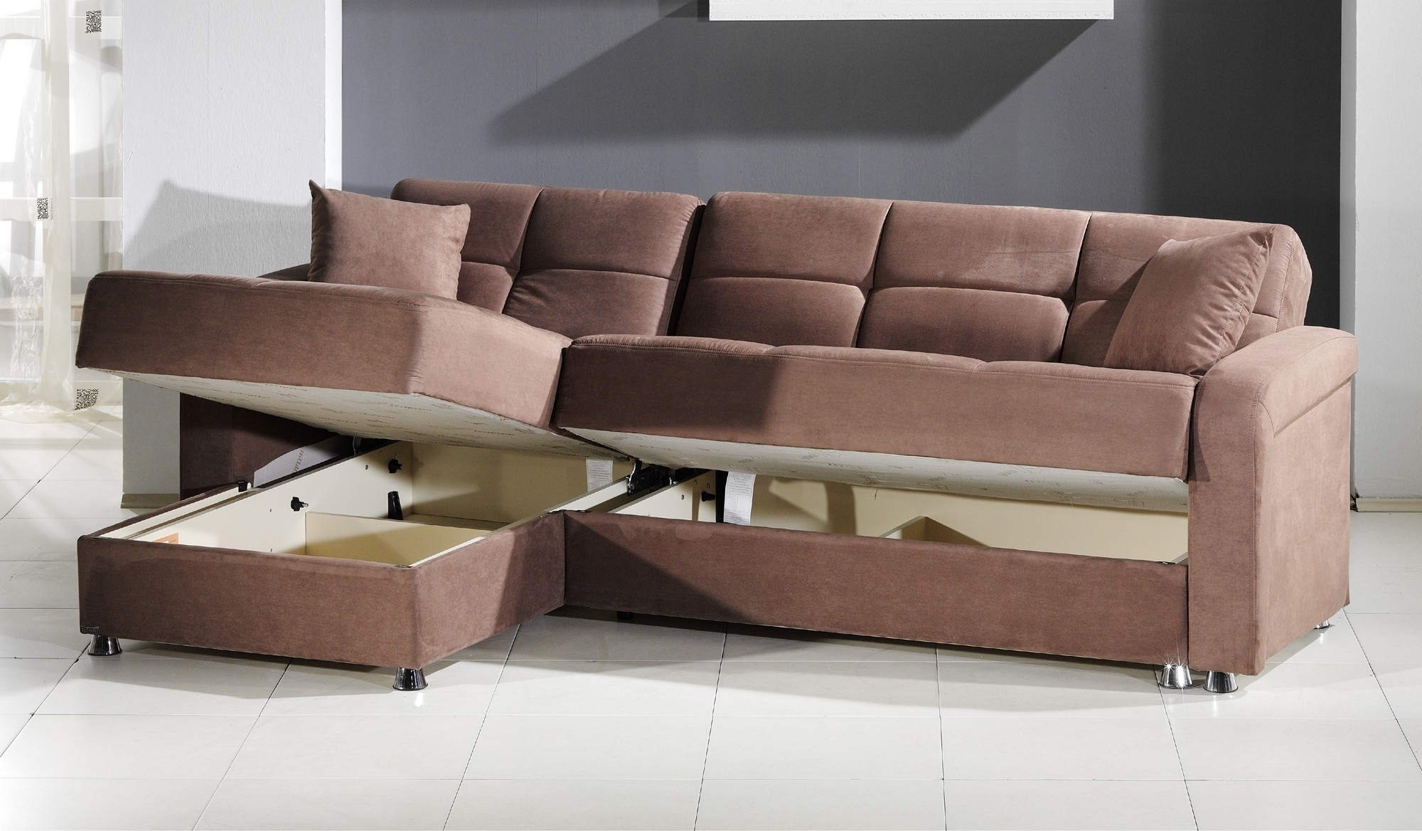 Convertible Sectional Sofas In Widely Used Vision Convertible Sectional Sofa In Rainbow Truffleistikbal (View 5 of 15)