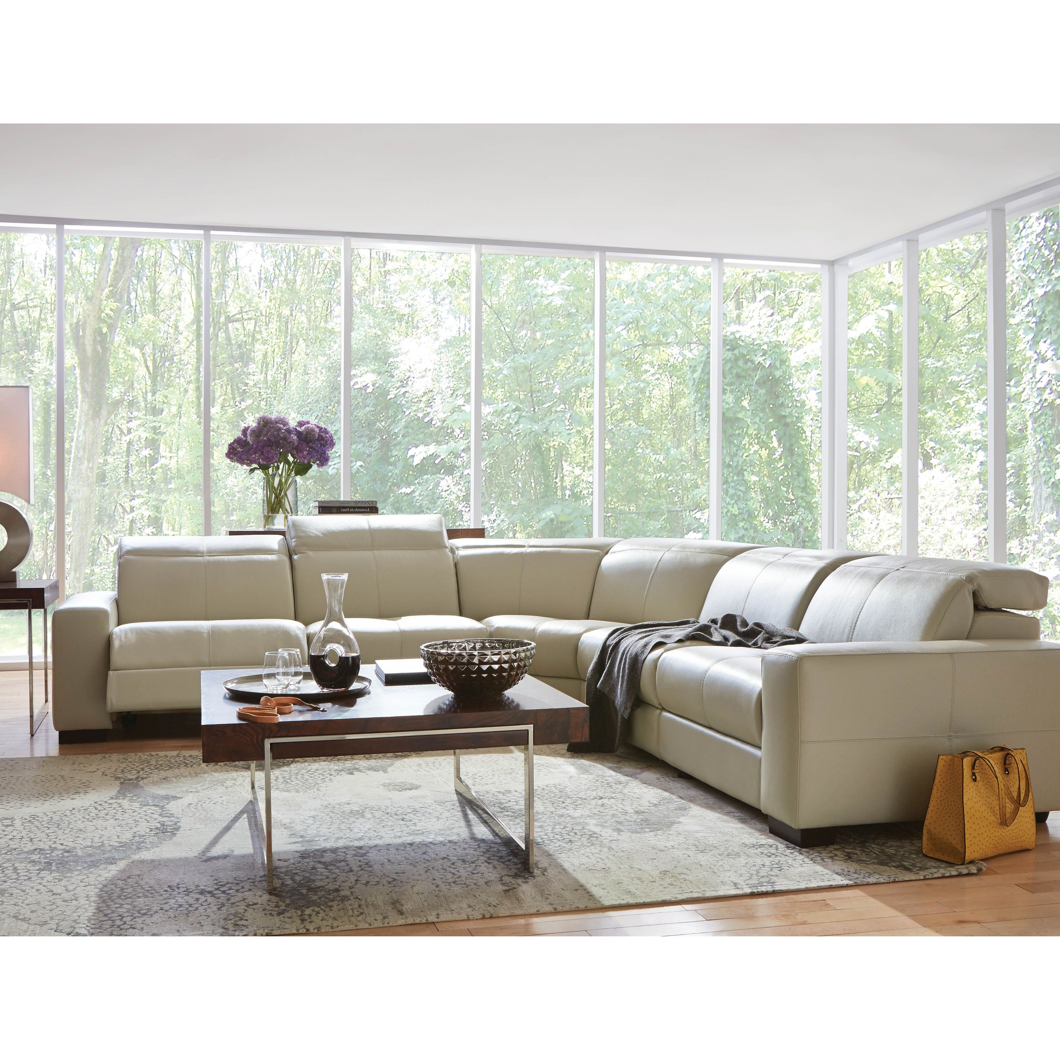 Cool, Clean, Contemporary And It Reclines! The Gianna Reclining With Regard To Fashionable Sectional Sofas Art Van (View 3 of 15)