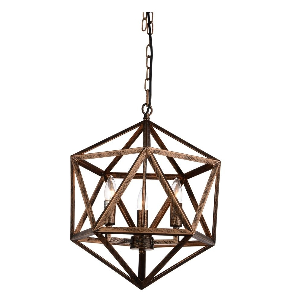Copper Chandelier Inside Fashionable Amazon 3 Light Antique Forged Copper Chandelier 9641P17 3 128 – The (View 5 of 15)