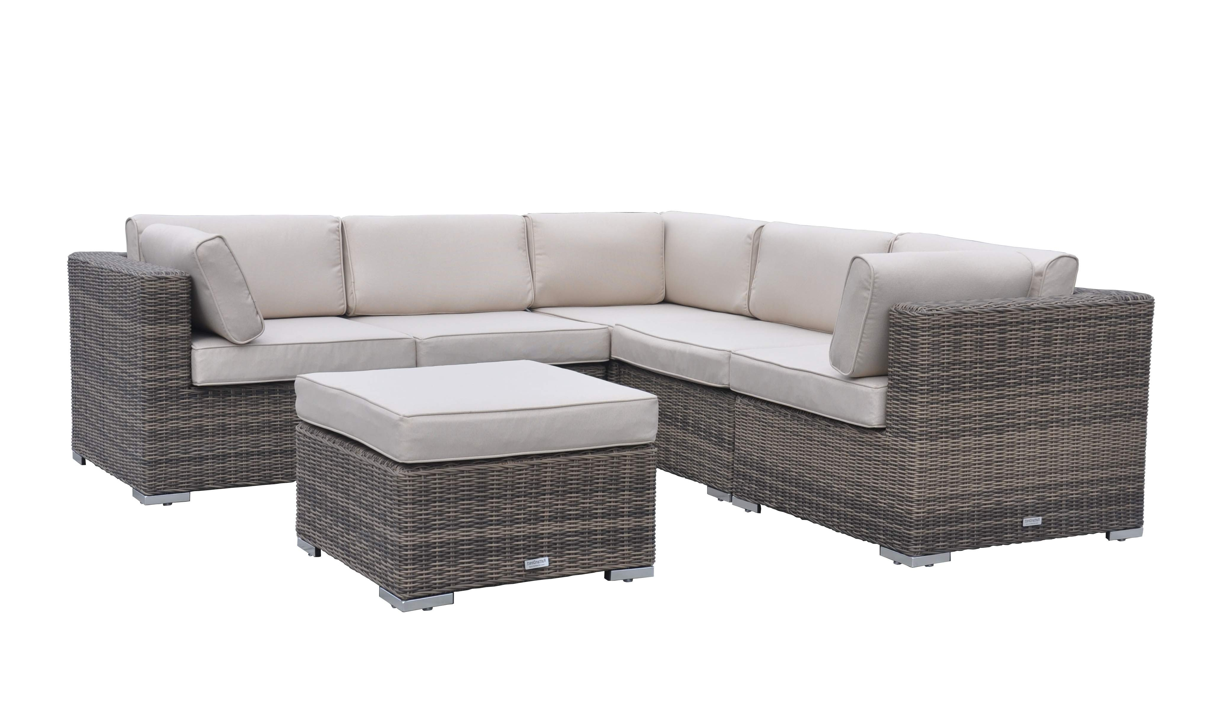 Corner Sofa Chairs With Regard To Most Current 6 Piece Florida Corner Set – Truffle And Champagne (View 3 of 15)
