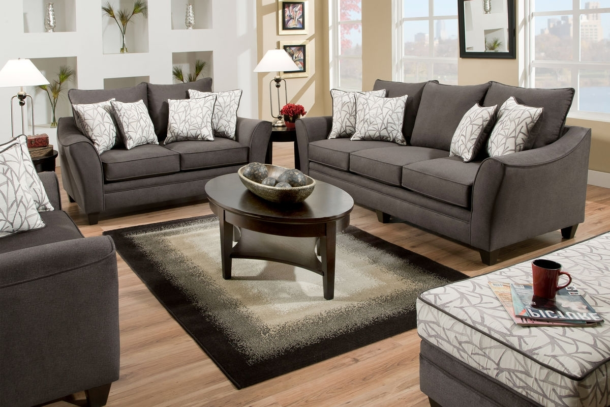 Cosmo Living Room Collection Within 2018 Grey Sofa Chairs (View 7 of 15)