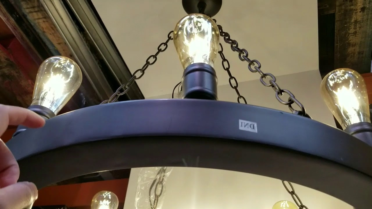 Costco 8 Edison Light Led Dark Bronze Metal Chandelier! $99!!! – Youtube For Most Up To Date Costco Lighting Chandeliers (View 3 of 15)