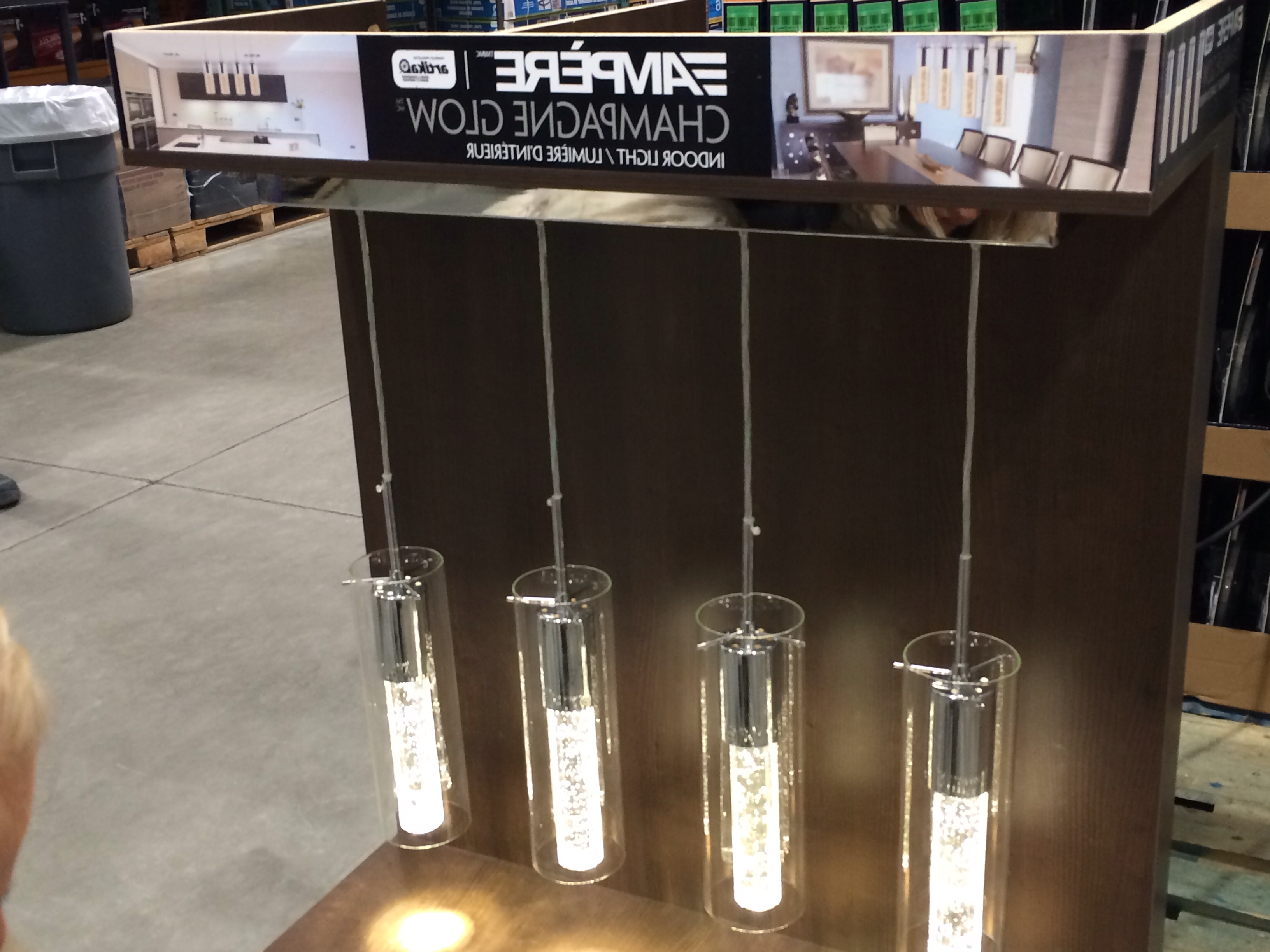 Costco: Ampère Champagne Glow Indoor Light (View 8 of 15)