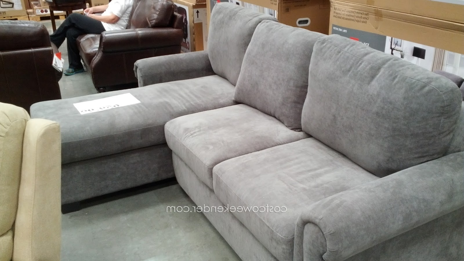 Costco Chaise Lounges Regarding Trendy Best Pulaski Sleeper Sofa Costco 86 For Sleeper Sofa With Chaise (View 13 of 15)