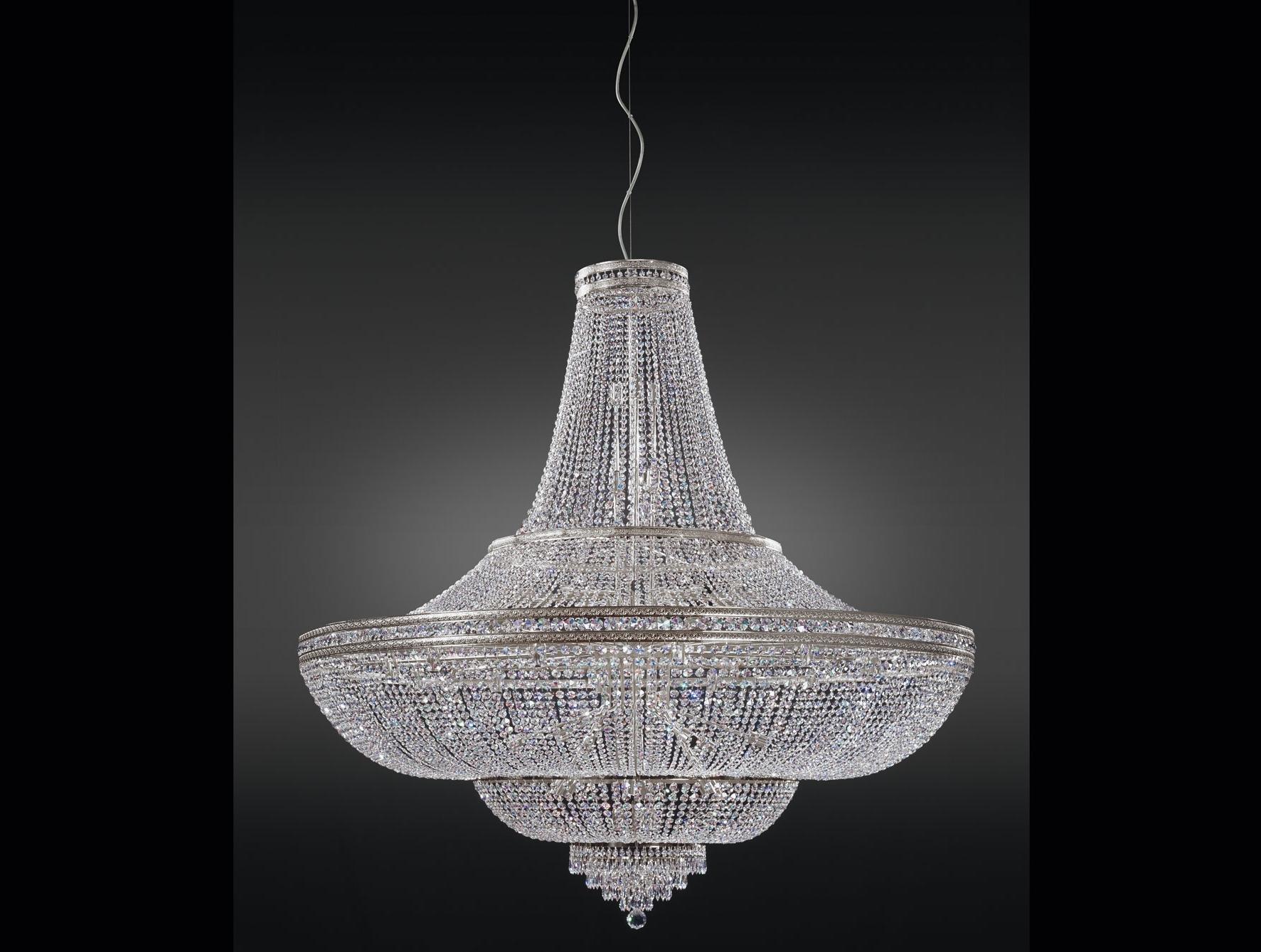 Costco Chandeliers Inside Most Recent Nella Vetrina Italamp 1020/144 Swarovski Crystal Chandelier (View 3 of 15)