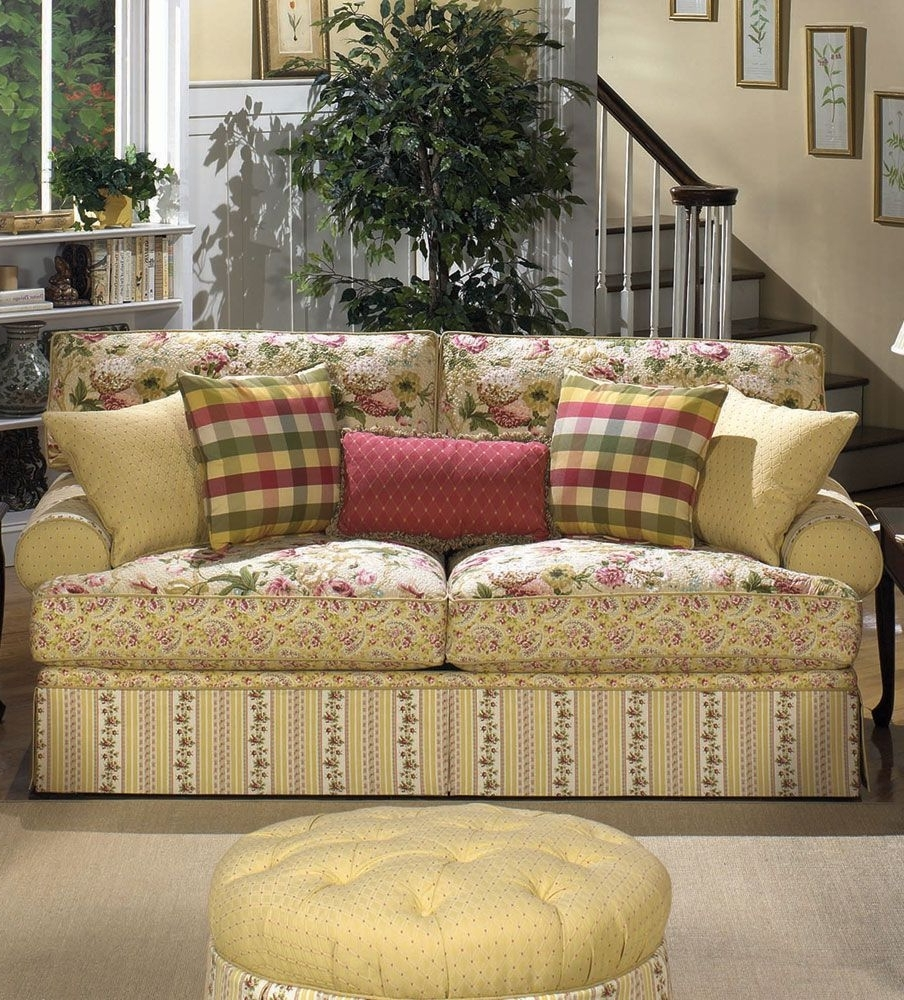Cottage Style Sofas And Chairs Intended For Well Liked Cottage Floral Sofa (View 6 of 15)