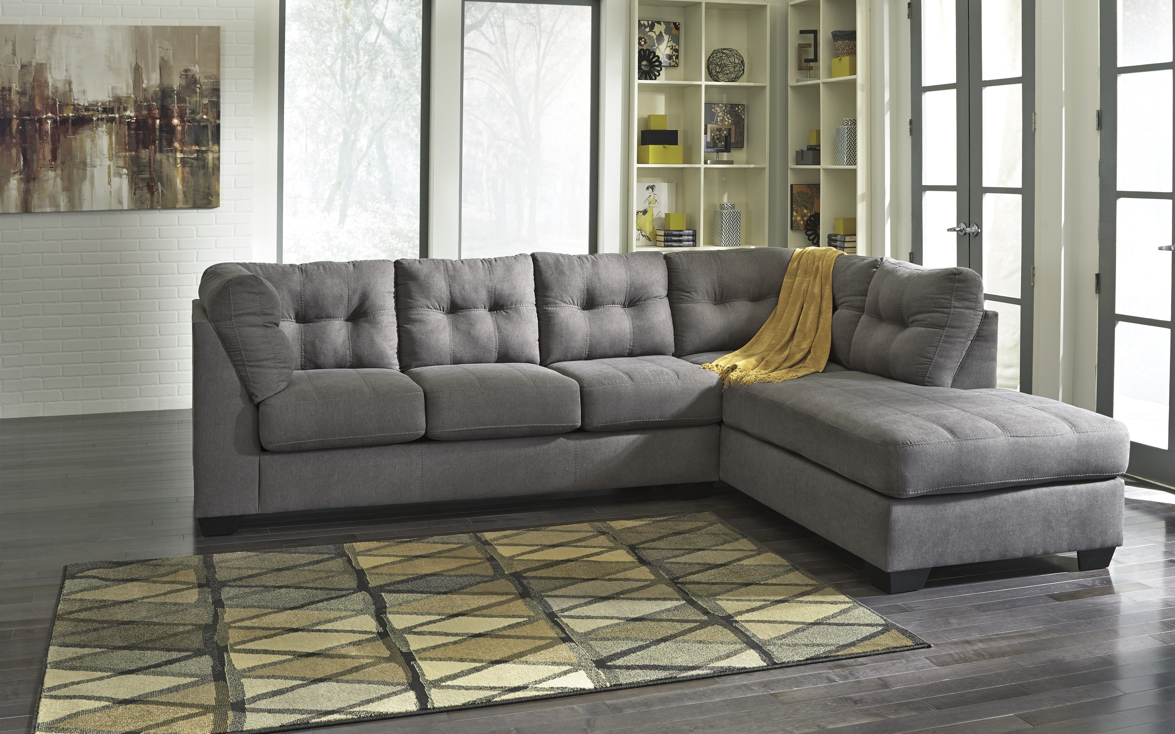Couch: Best Gray Couch Ashley Furniture Standard Couch, Gray Couch With Regard To Well Known Ashley Tufted Sofas (View 6 of 15)