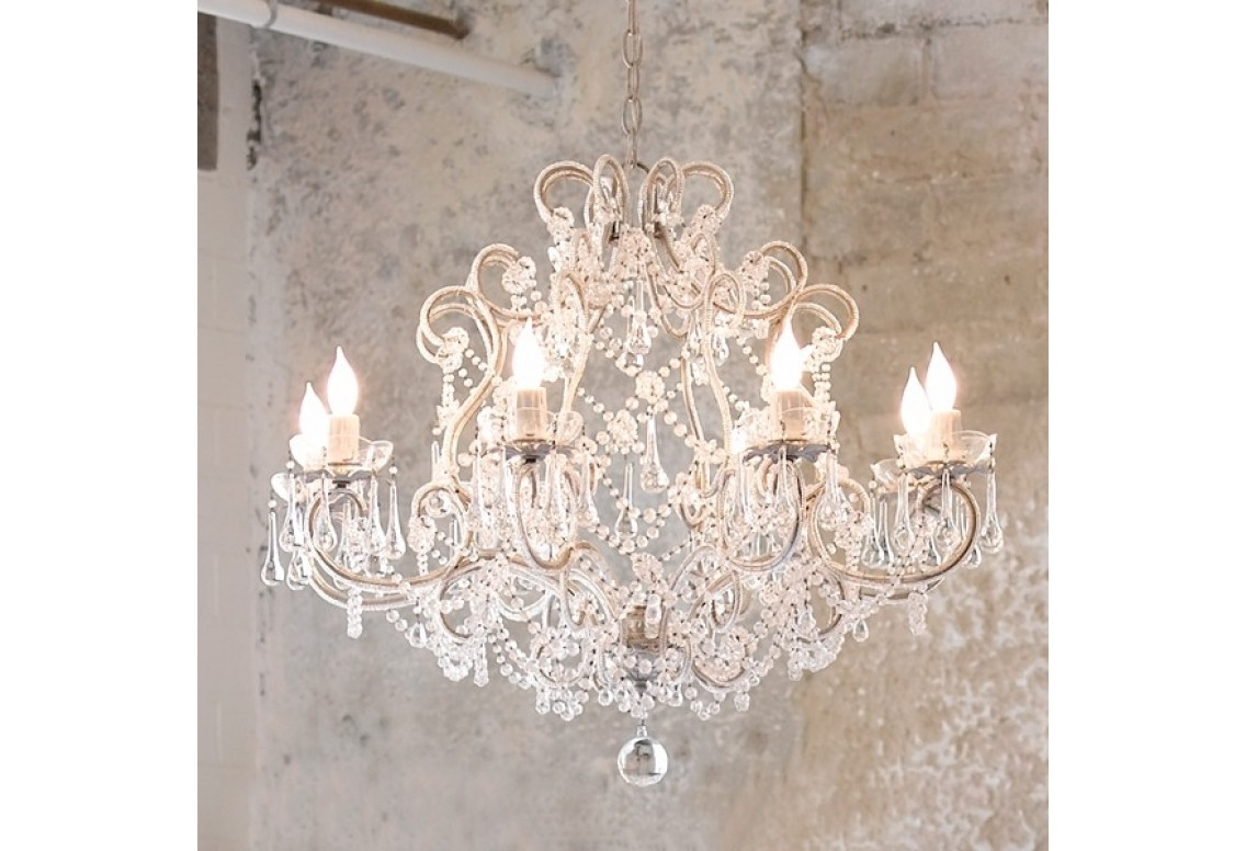 Country Chic Chandelier Pertaining To 2017 Chandeliers Design : Wonderful Rustic Chic Chandelier Farmhouse (View 1 of 15)
