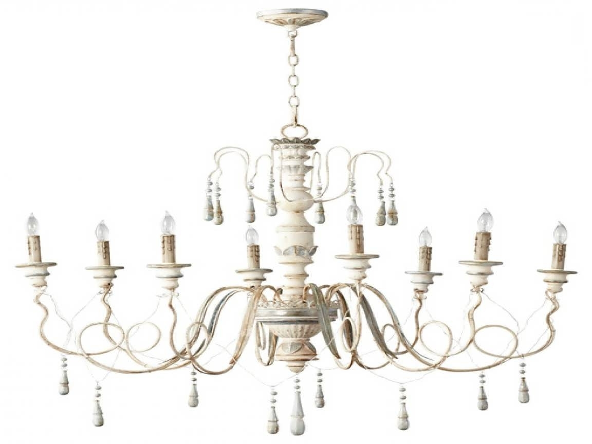 Country Chic Chandelier With Current Chandelier : Simply Shabby Chic Curtains Candelabra Chandelier (View 12 of 15)