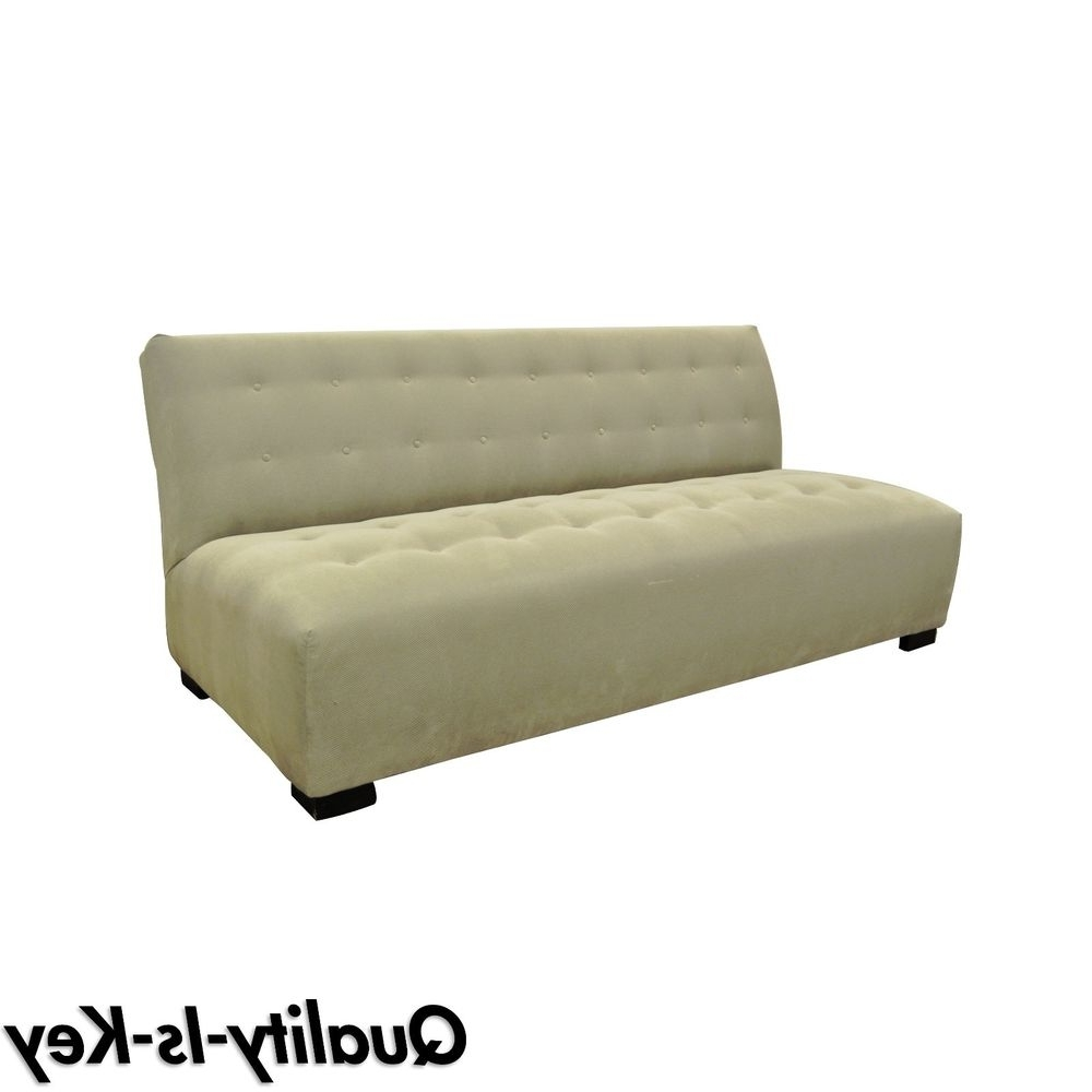 Crate And Barrel Chaises With Well Known Crate & Barrel Mitchell Gold Modern Plus Armless Sofa Loveseat (View 7 of 15)