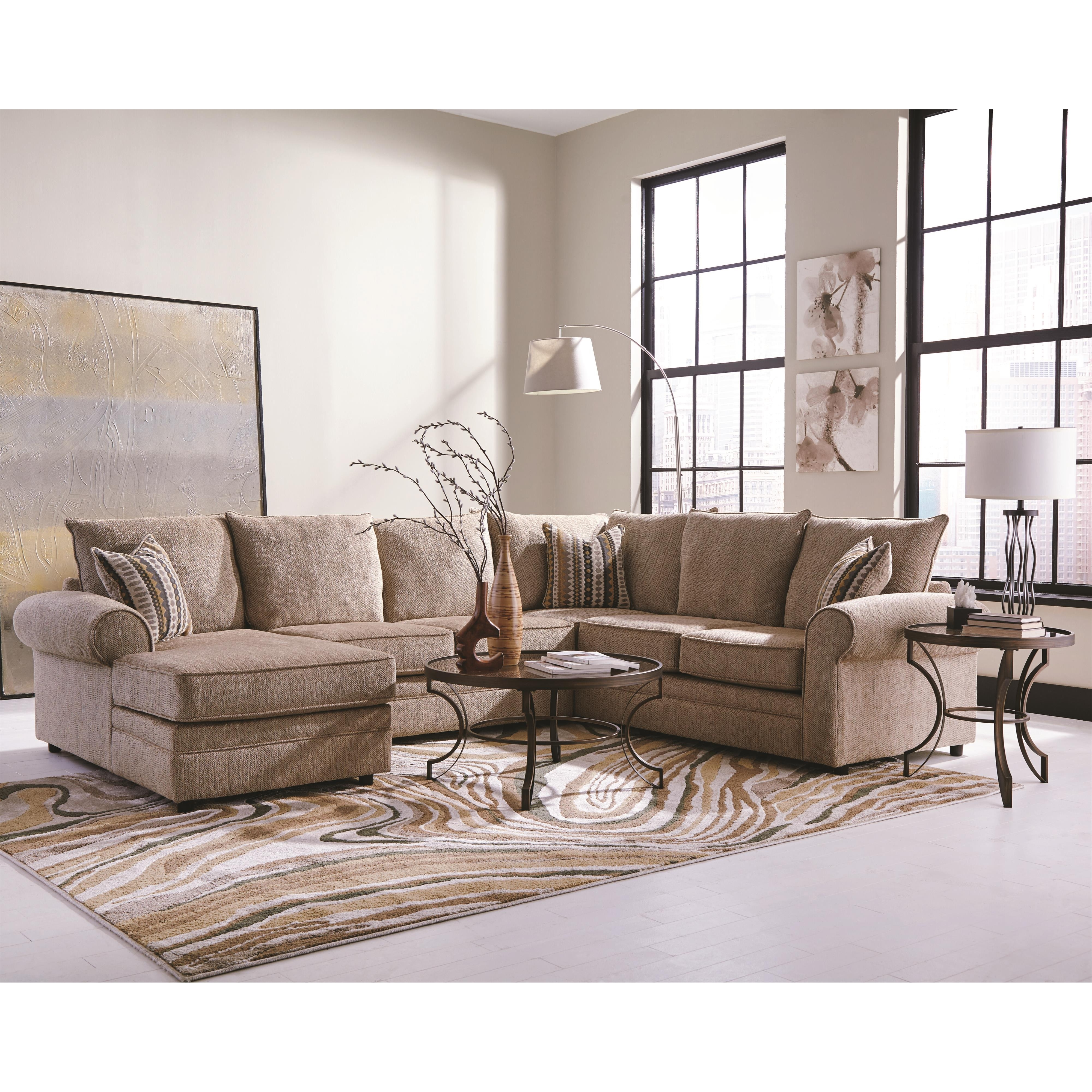Cream Chaise Sofas Inside 2017 Coaster Fairhaven 501149 Cream Colored U Shaped Sectional With (View 3 of 15)