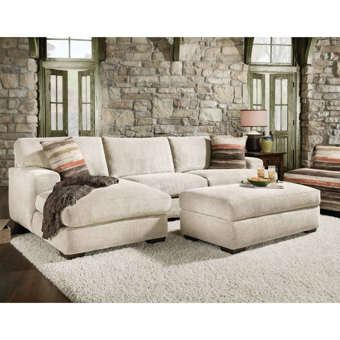 Cream Chaise Sofas Within Preferred Sofa : Double Chaise Sofa Sleeper Sofa With Chaise Grey Sectional (View 1 of 15)