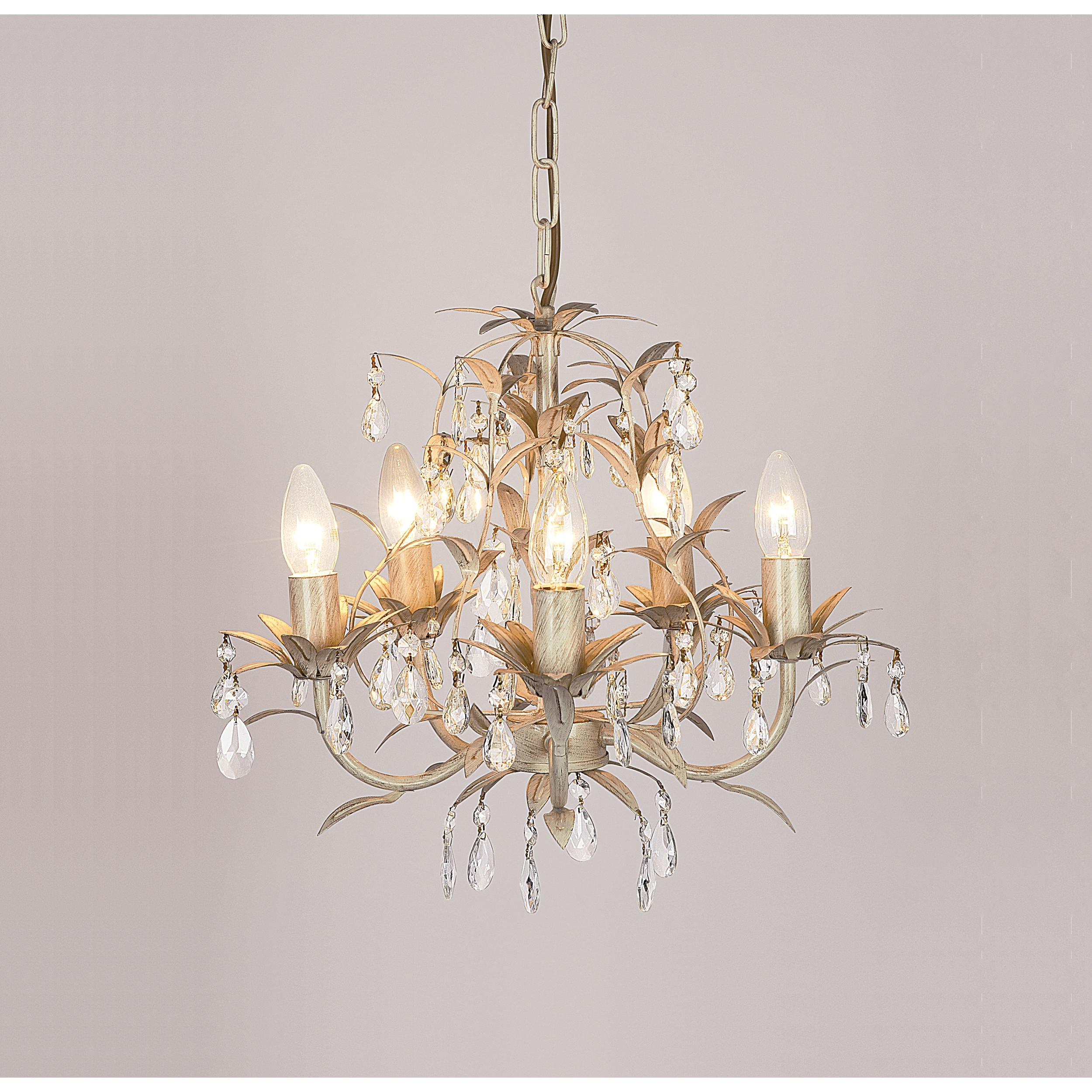Cream Chandeliers Within Best And Newest Chella Cream 5 Light Chandelier (View 5 of 15)