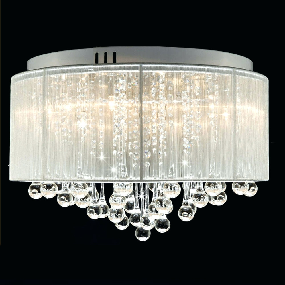 Cream Crystal Chandelier With Regard To Fashionable Chandeliers ~ Contemporary Crystal Drum Chandelier Crystal (View 6 of 15)