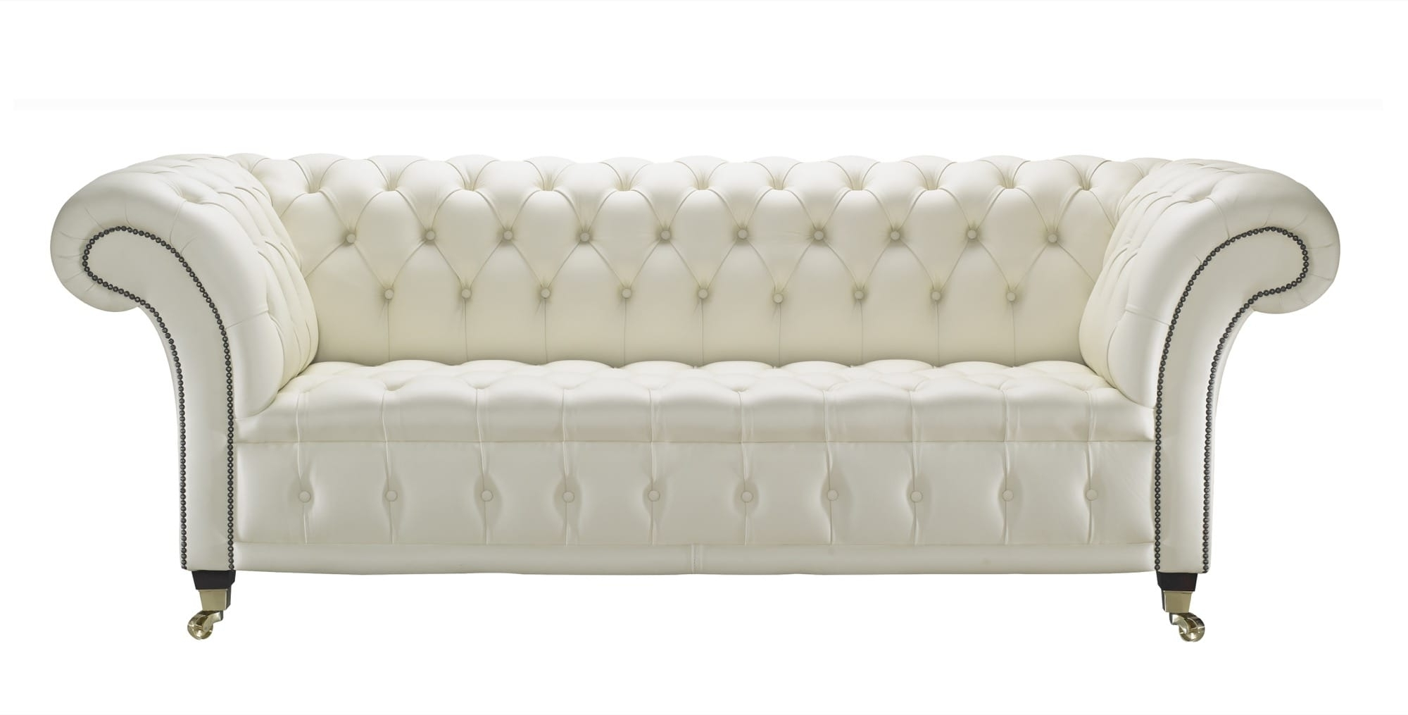 Cream Leather Chesterfield Sofa, Handcrafted In The Uk Inside Most Recent Leather Chesterfield Sofas (View 4 of 15)