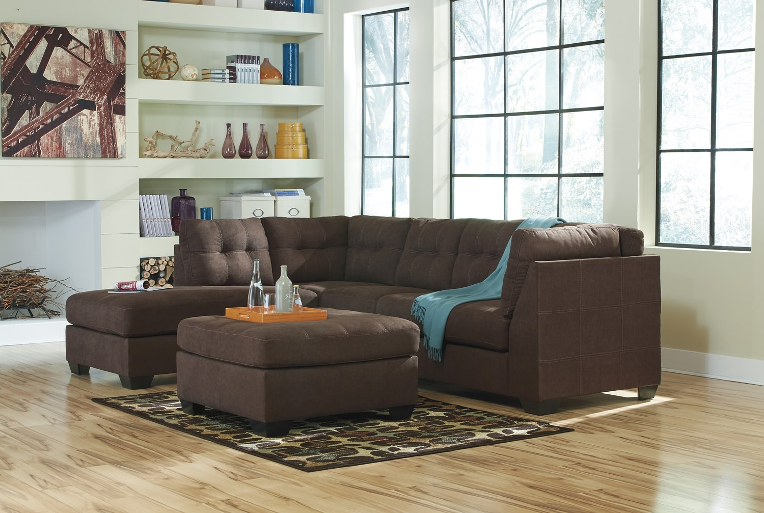 Crosby 2 Piece Modular Sectional At Hom Furniture (View 15 of 15)