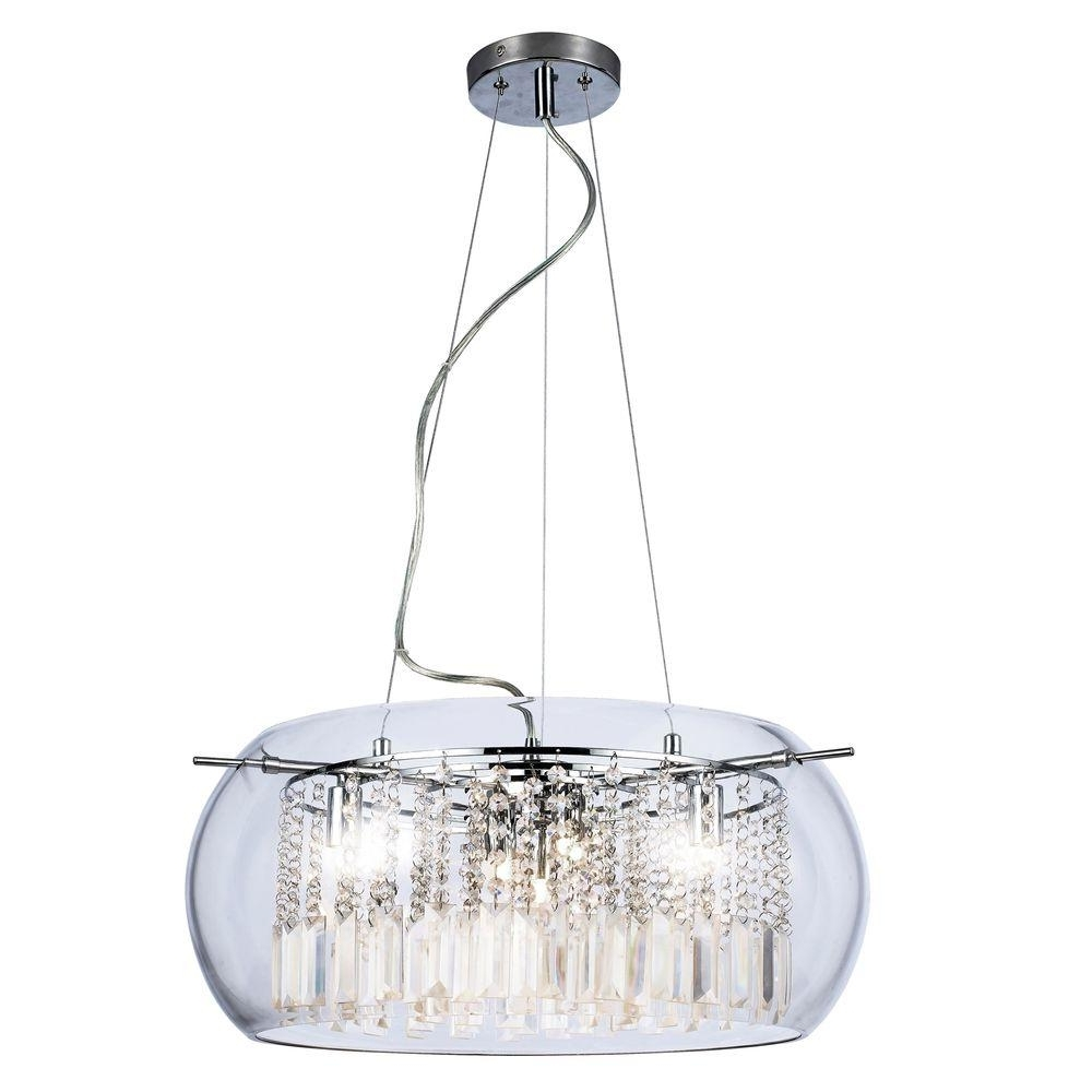 Crystal And Chrome Chandeliers pertaining to Recent Home Decorators Collection Baxendale 5-Light Chrome Chandelier With