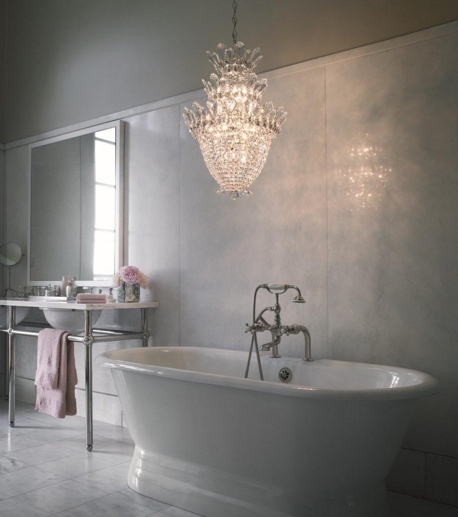 Crystal Bathroom Chandelier Regarding Most Current Nursery Chandelier Chandelier Bedroom Bathroom Chandelier Lighting (View 5 of 15)