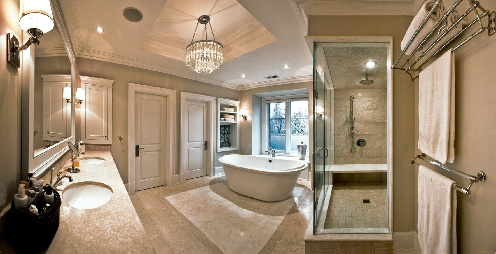 Crystal Bathroom Chandelier With Regard To Best And Newest Layered Lighting With Crystal Chandeliers – Doing It The Glow Way (View 4 of 15)