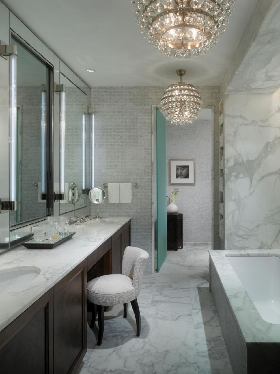 Crystal Bathroom Chandelier within Most Up-to-Date Chandeliers : Mini Chandelier For Bathroom New Bathroom Ideas