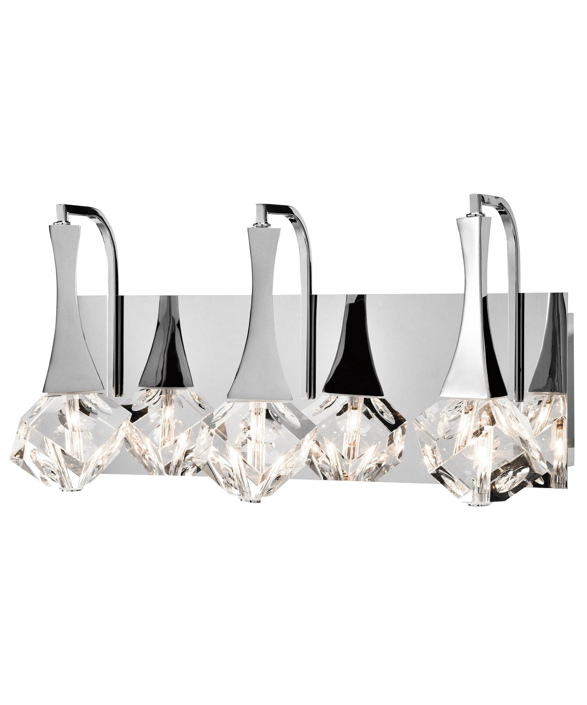 Crystal Bathroom Vanity Light Fixtures Lighting Swarovski Sconces With Well Liked Chandelier Bathroom Vanity Lighting (View 3 of 15)
