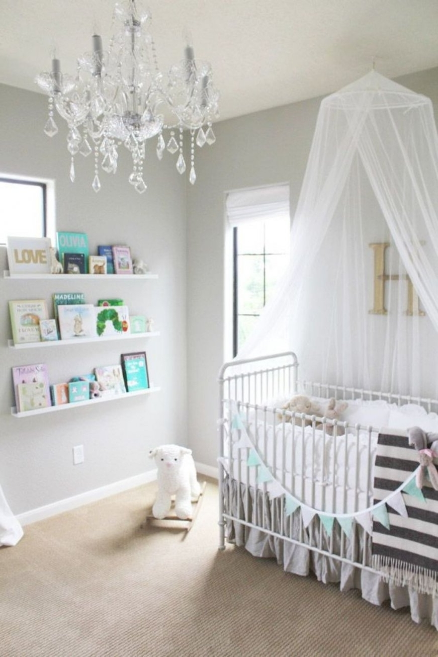 Crystal Chandelier Baby Girl Room (View 1 of 15)